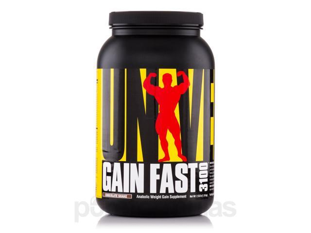 Gain Fast 3100 Chocolate Shake - 2.55 lb (1.16 kg) by Universal Nutrition