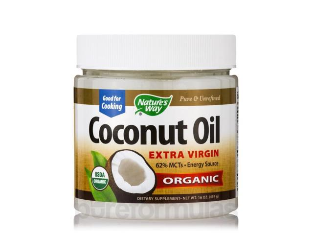 Organic Extra Virgin Coconut Oil - 16 oz (454 Grams) by Nature's Way