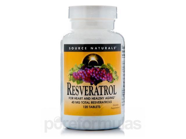 Resveratrol 40 mg - 120 Tablets by Source Naturals