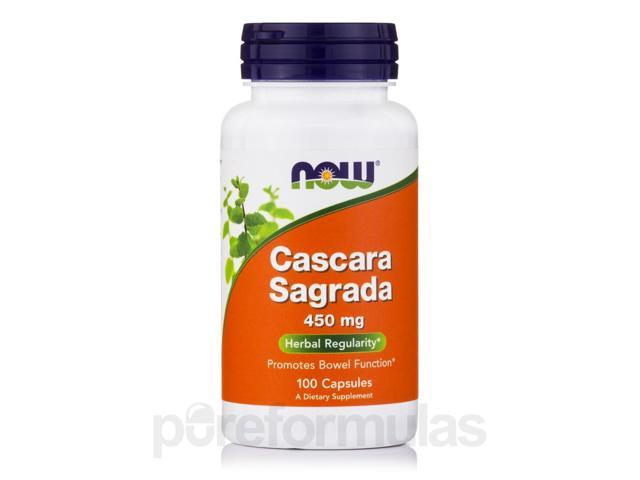 Cascara Sagrada 450 mg - 100 Capsules by NOW