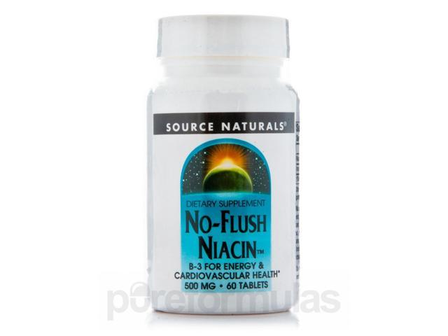 No-Flush Niacin 500 mg - 60 Tablets by Source Naturals