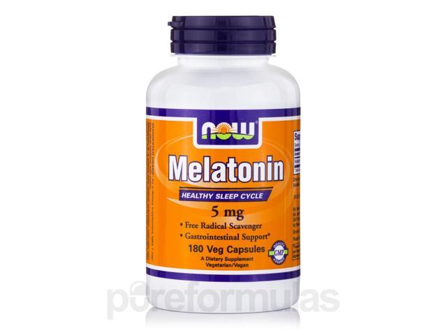 Melatonin 5 mg - 180 Veg Capsules by NOW