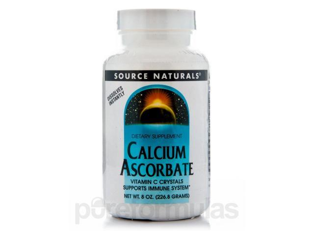 Calcium Ascorbate Crystals - 8 oz (226.8 Grams) by Source Naturals