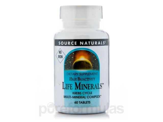 Life Minerals No Iron - 60 Tablets by Source Naturals