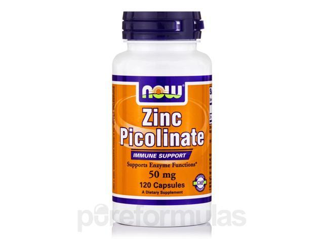 Zinc Picolinate 50 mg - 120 Capsules by NOW