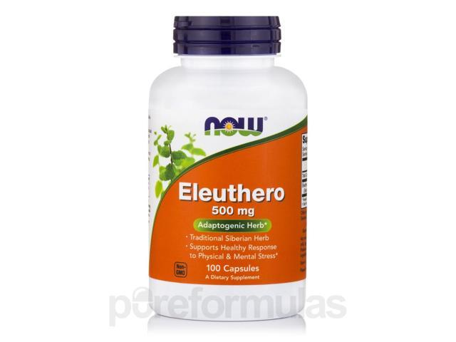 Eleuthero 500 mg - 100 Capsules by NOW