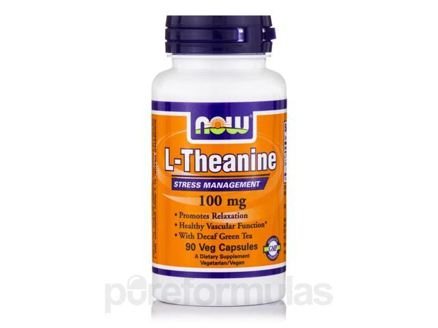 L-Theanine 100 mg - 90 Veg Capsules by NOW