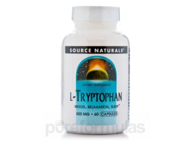 L-Tryptophan 500 mg - 60 Capsules by Source Naturals