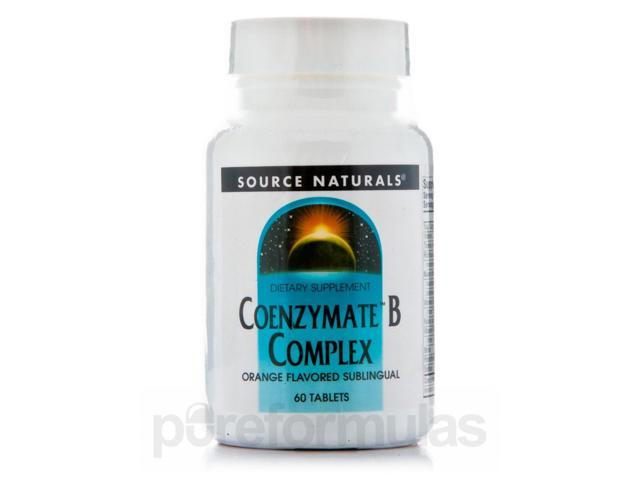 Coenzymate B Complex Sublingual Orange - 60 Tablets by Source Naturals
