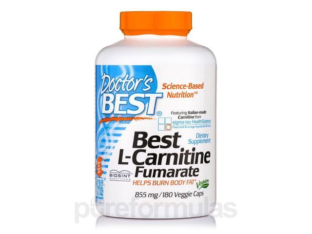 Best L-Carnitine Fumarate 855 mg - 180 Veggie Capsules by Doctor's Best