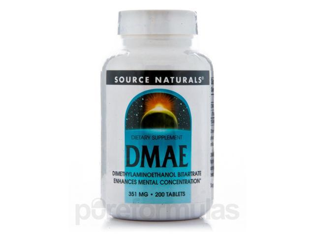 DMAE Tabs 351 mg - 200 Tablets by Source Naturals