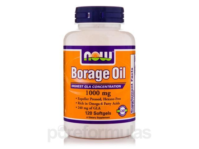 Borage Oil 1000 mg - 120 Softgels by NOW