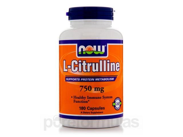 L-Citrulline 750 mg - 180 Veg Capsules by NOW