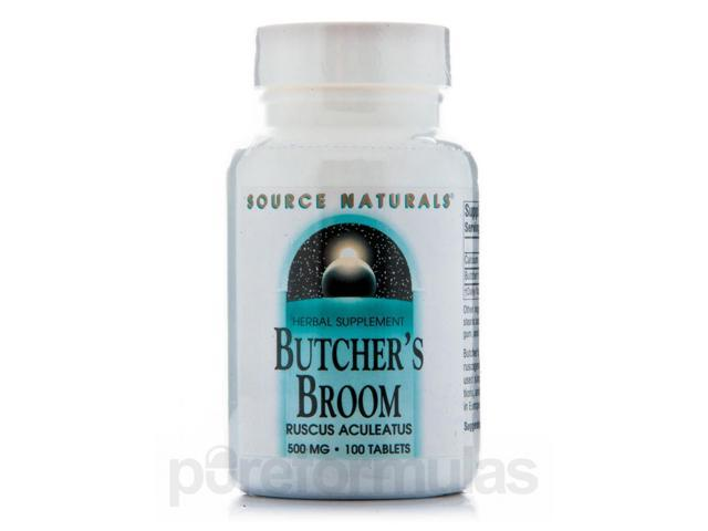 Butchers Broom 500 mg - 100 Tablets by Source Naturals