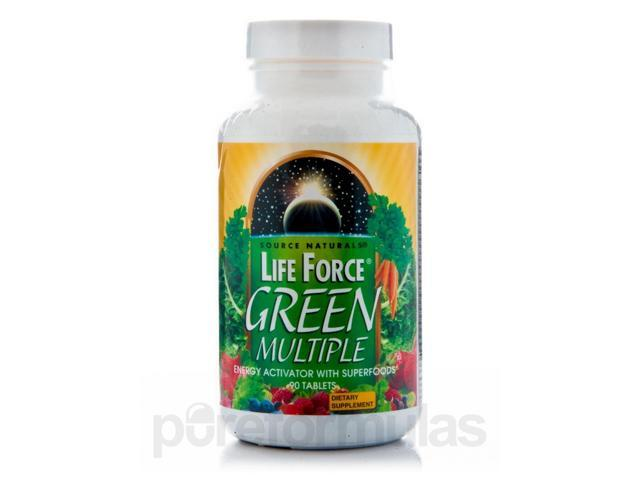 Life Force Green Multiple - 90 Tablets by Source Naturals