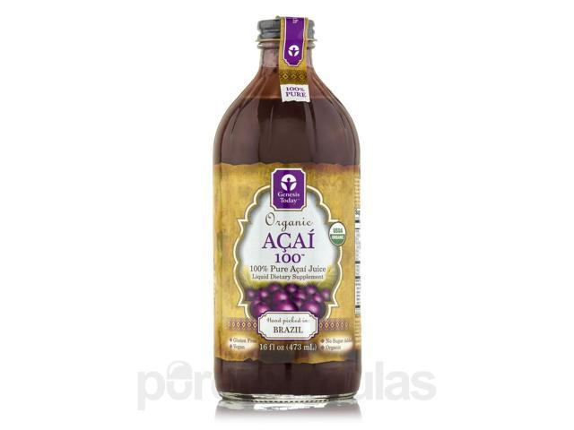 Organic Acai 100 - 16 fl. oz (473 ml) by Genesis Today