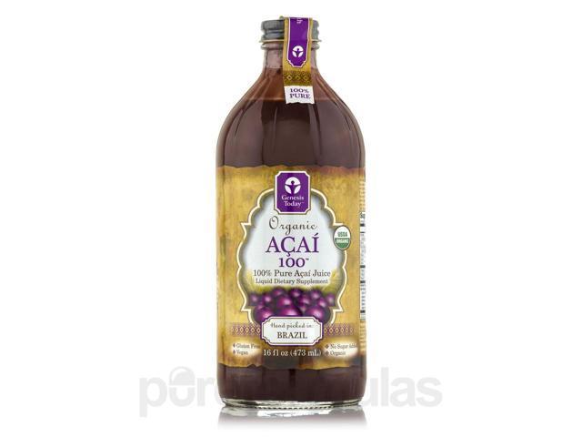 Organic Acai 100 - 16 fl. oz (473 ml) by Genesis Today