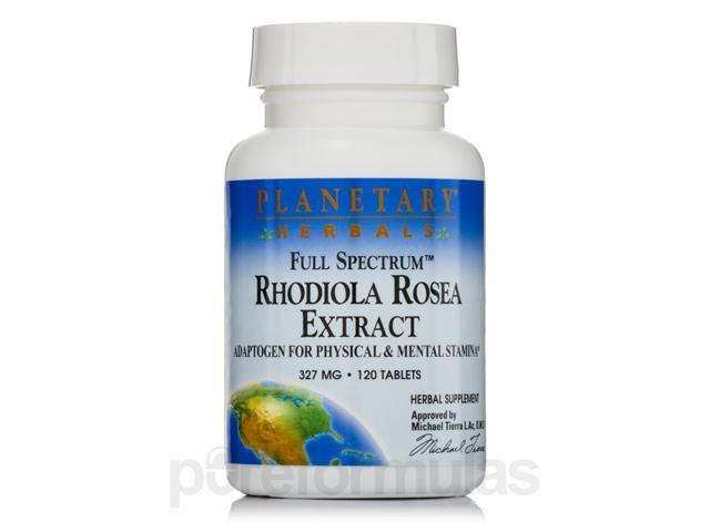 Full Spectrum Rhodiola Rosea 327 mg - 120 Tablets by Planetary Herbals