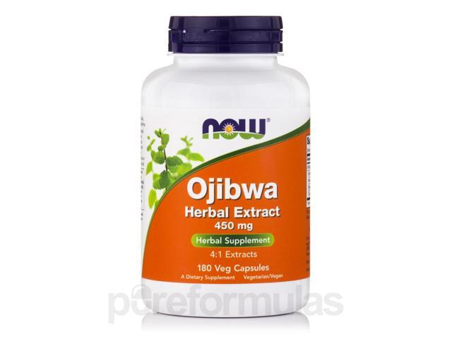 Ojibwa Herbal Extract 450 mg - 180 Veg Capsules by NOW