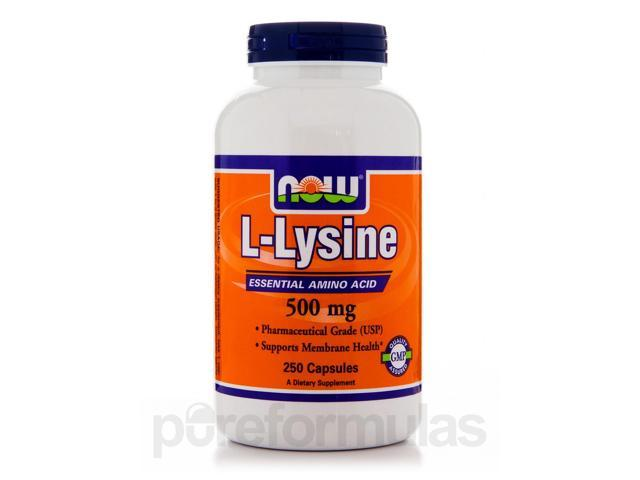 L-Lysine 500 mg - 250 Capsules by NOW