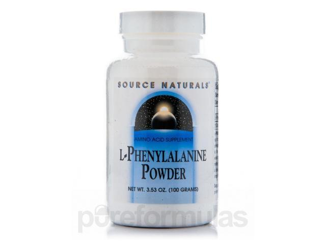 L-Phenylalanine Powder - 3.53 oz (100 Grams) by Source Naturals