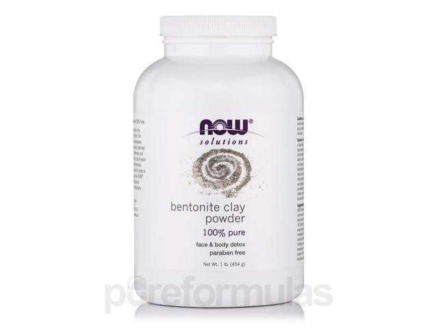 NOW Solutions - Bentonite Clay Powder 100% Pure - 1 lb (454 Grams) by NOW