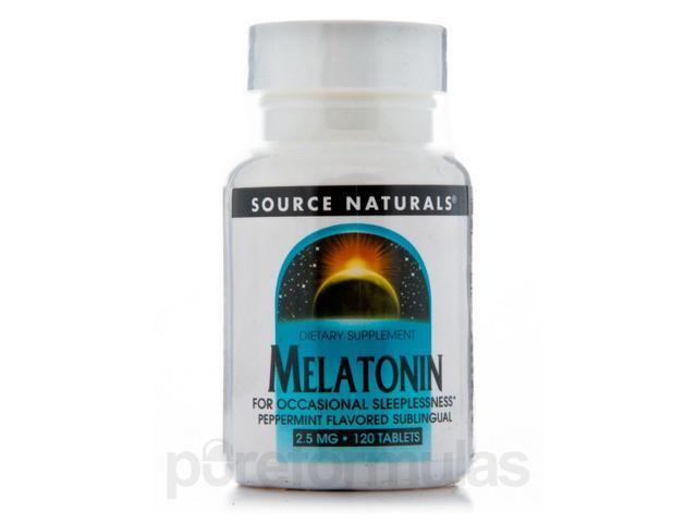 Melatonin 2.5 mg Sublingual Peppermint - 120 Tablets by Source Naturals