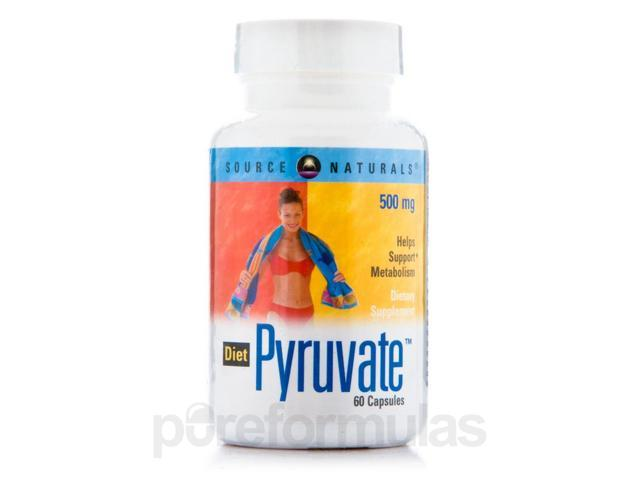 Diet Pyruvate 500 mg - 60 Capsules by Source Naturals