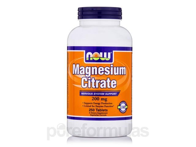 Magnesium Citrate 200 mg - 250 Tablets by NOW
