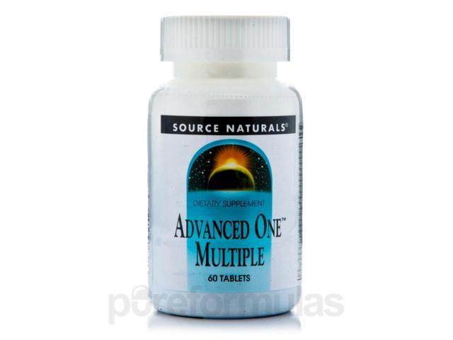 Advanced One Multi with Iron - 60 Tablets by Source Naturals