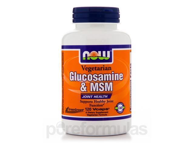 Vegetarian Glucosamine & MSM - 120 Vegetarian Capsules by NOW