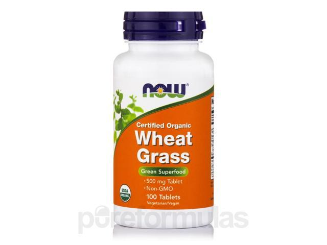 Wheat Grass (Organic) 500 mg - 100 Tablets by NOW