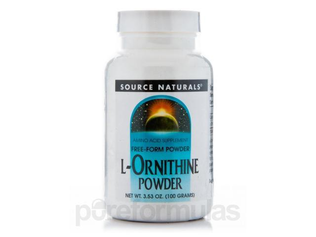 L-Ornithine Powder - 3.53 oz (100 Grams) by Source Naturals