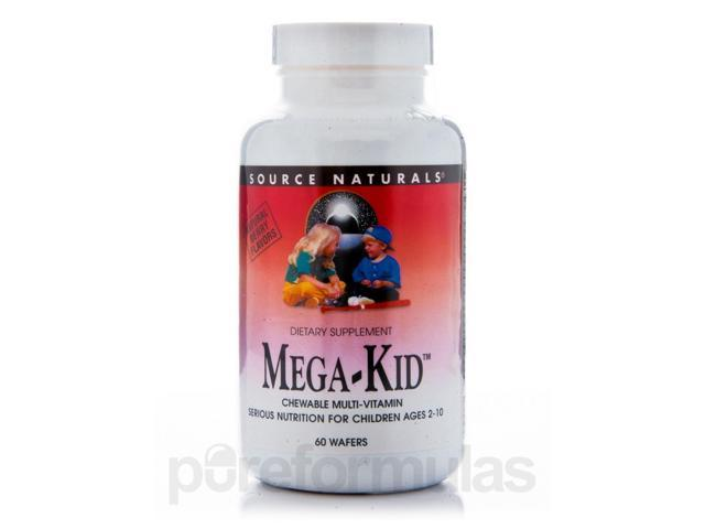Mega Kid Chewable - 60 Wafers by Source Naturals