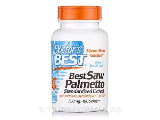 Best Saw Palmetto Standardized Extract 320 mg - 180 Softgels by Doctor's Best