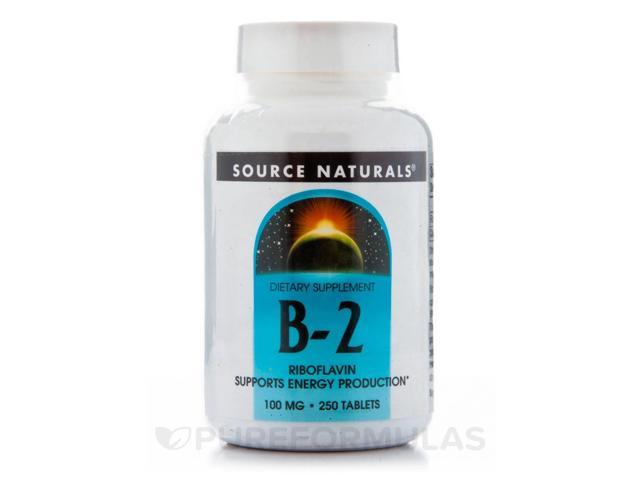 B-2 100 mg - 250 Tablets by Source Naturals