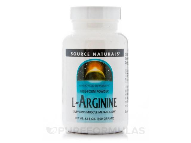 L-Arginine Powder - 3.53 oz (100 Grams) by Source Naturals