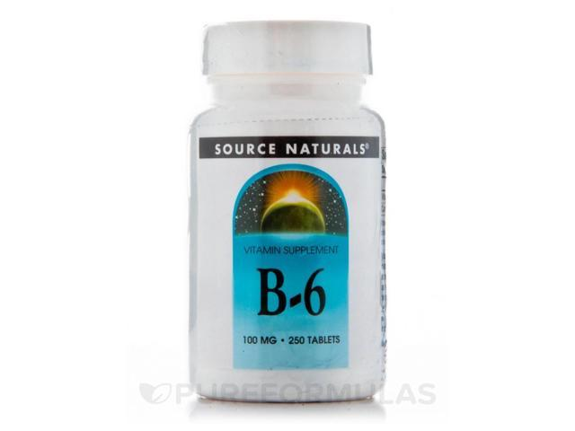 B-6 100 mg - 250 Tablets by Source Naturals