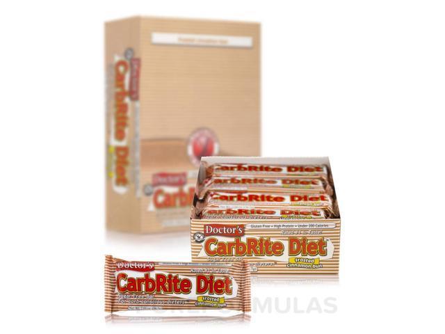 CarbRite Bar Cinnamon Bun - Box of 12 Bars by Universal Nutrition