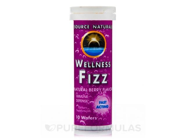Wellness Fizz Berry Wafer - 10 Wafers by Source Naturals