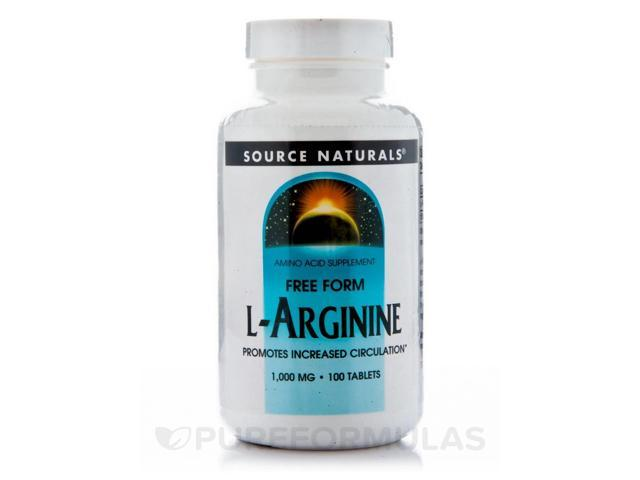 L-Arginine 1000 mg - 100 Tablets by Source Naturals