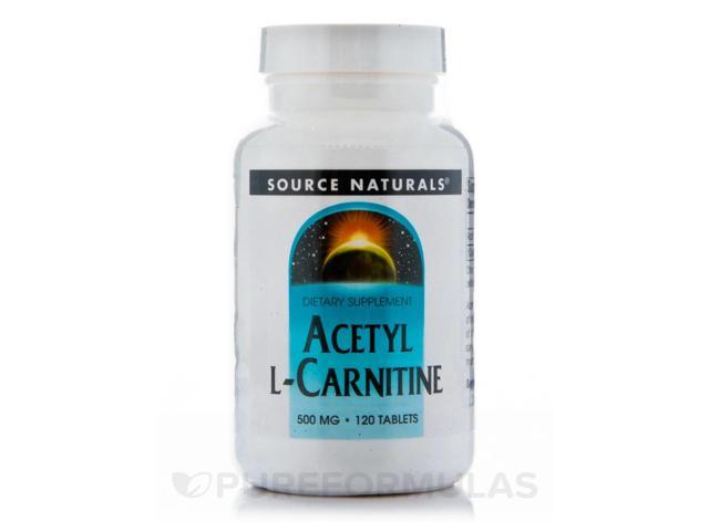 Acetyl L-Carnitine 500 mg - 120 Tablets by Source Naturals