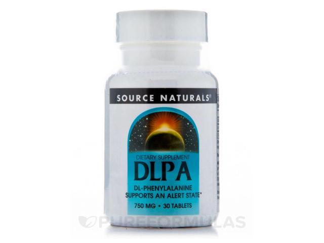 DL-Phenylalanine 750 mg - 30 Tablets by Source Naturals