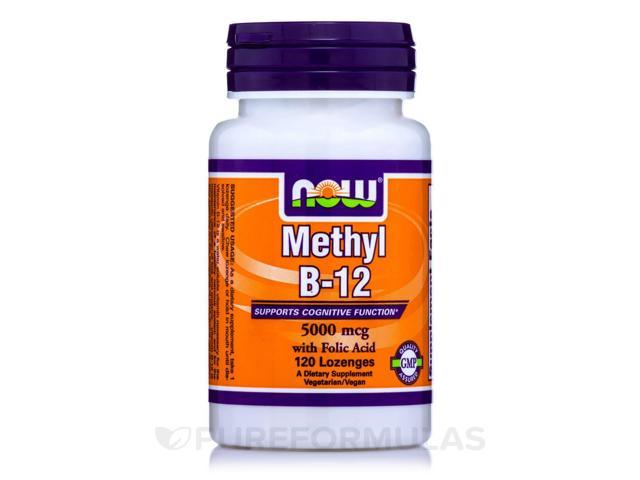 Methyl B-12 5000 mcg - 120 Lozenges by NOW