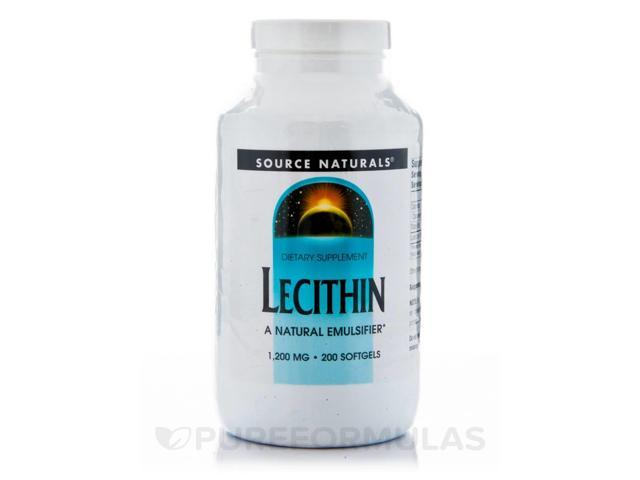 Lecithin 1200 mg - 200 Softgels by Source Naturals