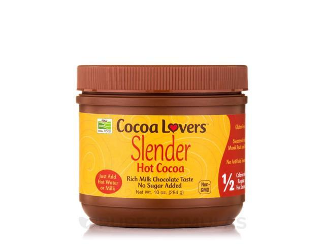 NOW Real Food - Cocoa Lovers Slender Hot Cocoa - 10 oz (284 Grams) by NOW