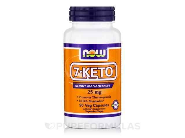 7-KETO 25 mg - 90 Veg Capsules by NOW