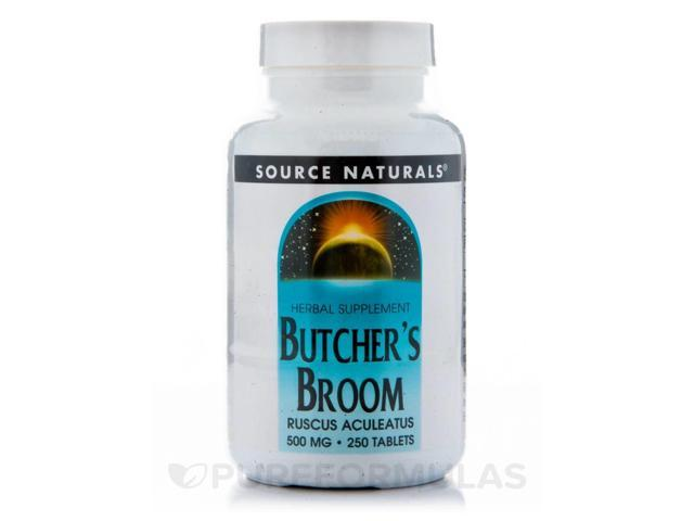 Butchers Broom 500 mg - 250 Tablets by Source Naturals
