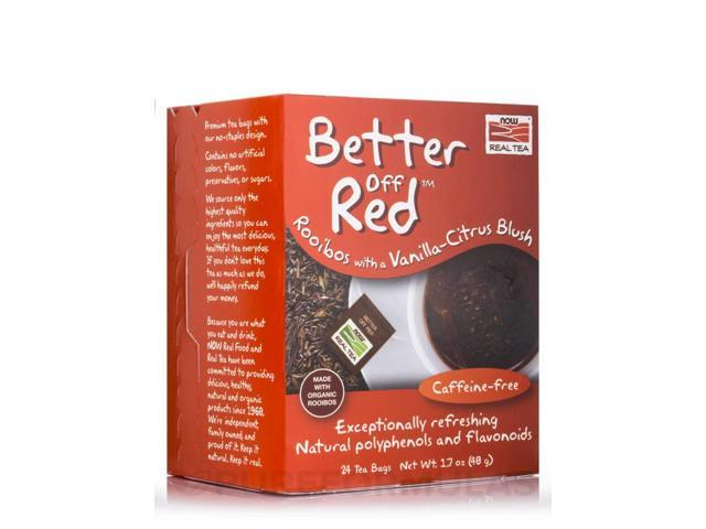 NOW Real Tea - Better Off Red Tea Bags - Box of 24 Packets by NOW