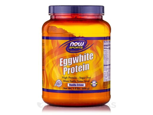 NOW Sports - Eggwhite Protein Vanilla Creme - 1.5 lbs (680 Grams) by NOW